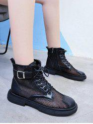 Breathable Mesh Lace Up Ankle Boots -