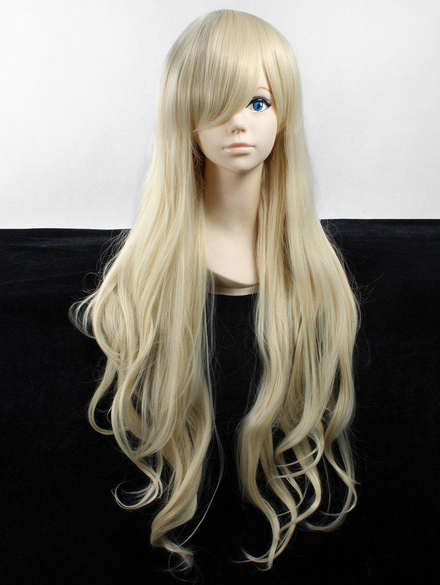 Fancy Long Side Bang Wavy Heat Resistant Fiber Anime Synthetic Wig
