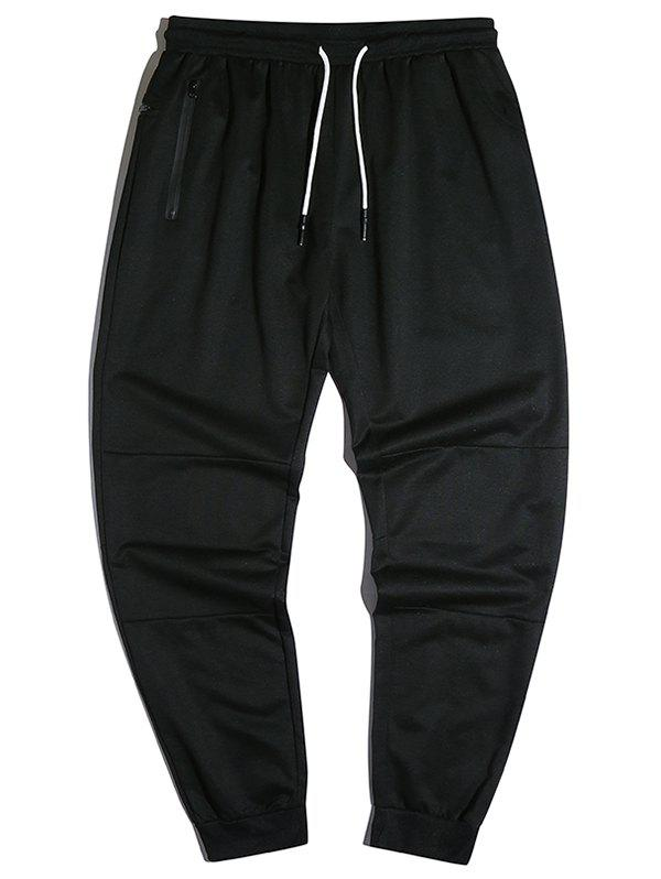 Affordable Drawstring Zipper Pockets Tapered Jogger Pants