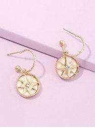 Geometry Star Stud Drop Earrings -