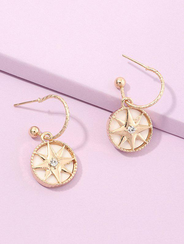 Chic Geometry Star Stud Drop Earrings
