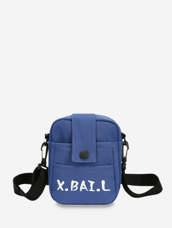 Unique Letters Pattern Canvas Square Crossbody Bag