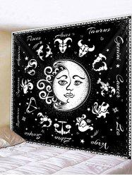 Horoscope Moon And Sun Pattern Wall Tapestry -