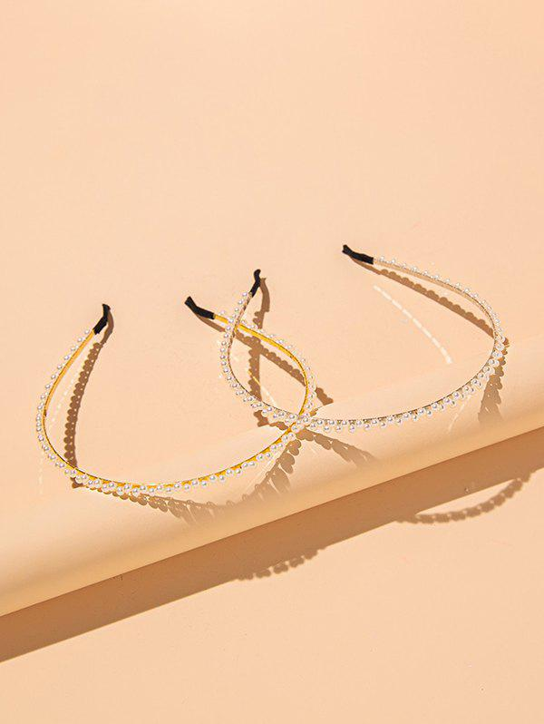 Latest 2 Pieces Faux Pearl Hair Bands