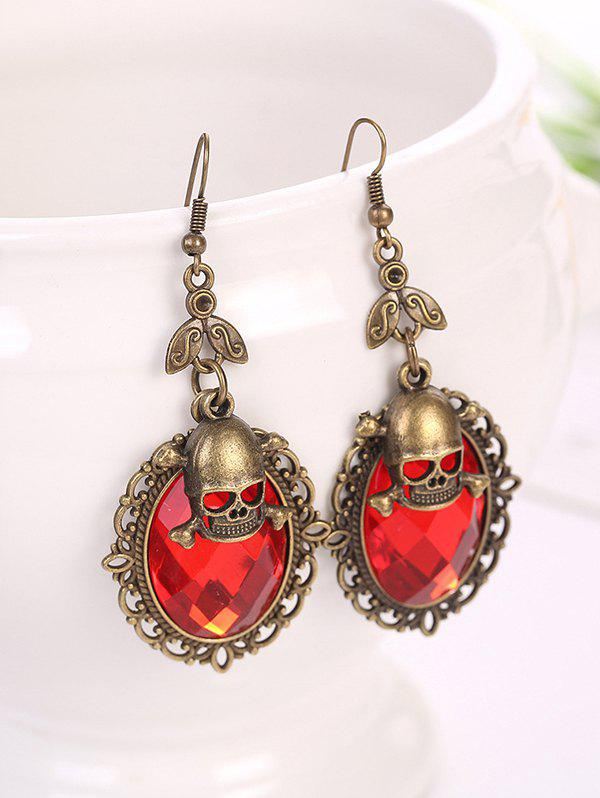 Buy Gothic Halloween Faux Crystal Skull Earrings