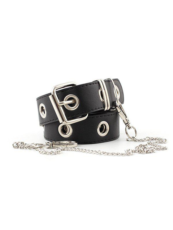 Outfits Punk O Rings Chain Pin Buckle Belt