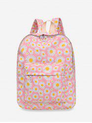 Daisy Floral Print Nylon Top Handle Backpack -