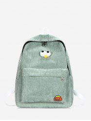 Cartoon Eyes Corduroy Backpack -