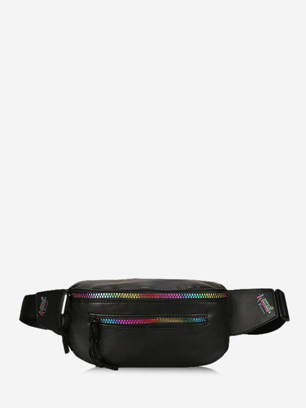 Fashion Colorful Zipper Leather Chest Bag