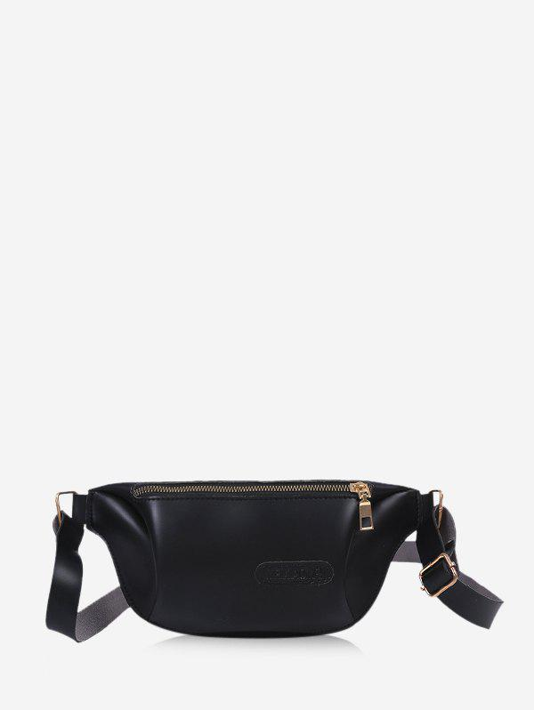 Outfits Solid Color Leather Chest Bag