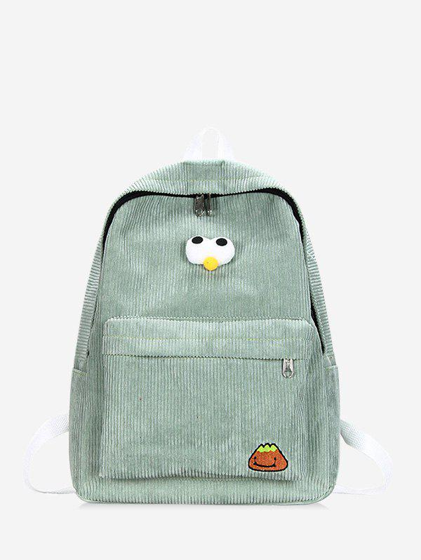 Hot Cartoon Eyes Corduroy Backpack