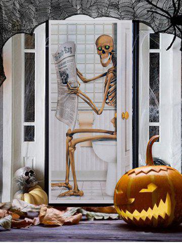 Halloween Decorative Skeleton Glass Door Sticker