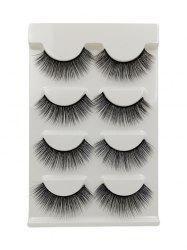 4Pairs Long Extensions Curling False Eyelashes -