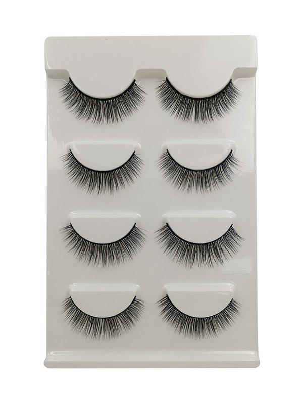 Online 4Pairs Long Extensions Curling False Eyelashes