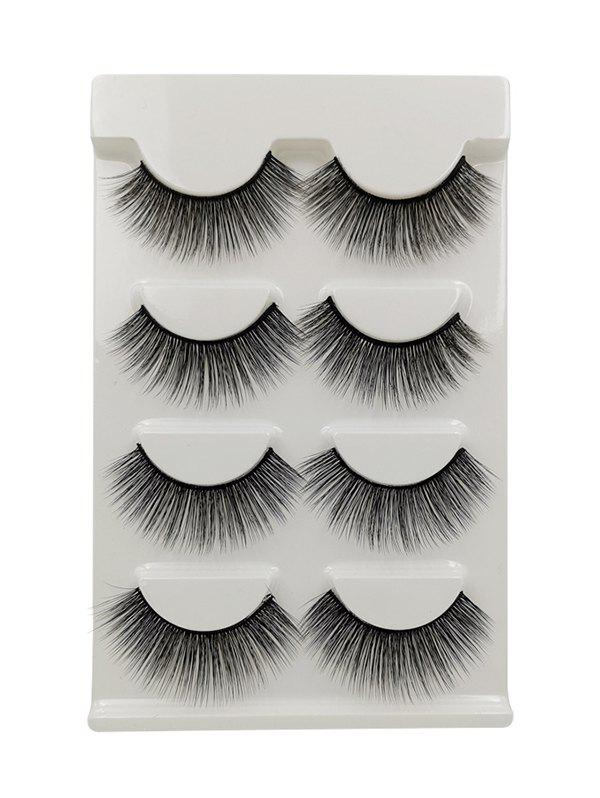 Outfits 4Pairs Long Extensions Curling False Eyelashes