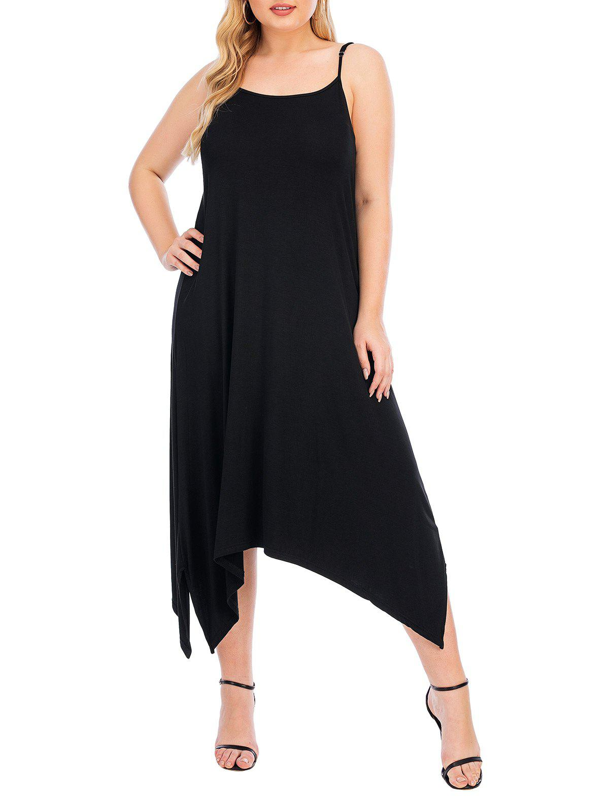 Outfits Plus Size Handkerchief Adjusted Strap Cami Pajama Dress
