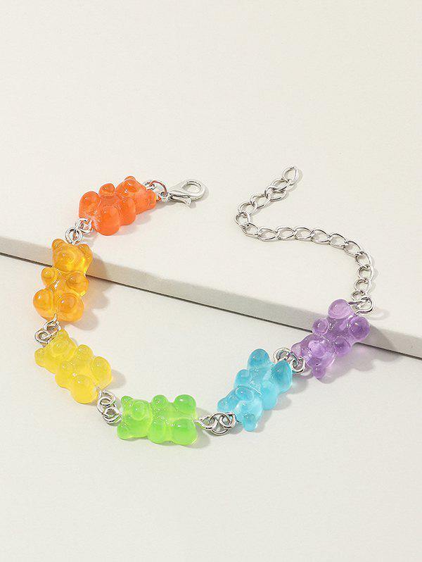 Store Colored Resin Bear Candy Shape Bracelet