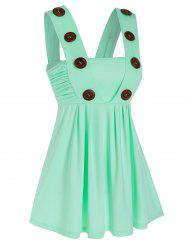 Mock Button Ruched Tank Top -