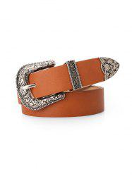Retro Carved Buckle Decorative Belt -