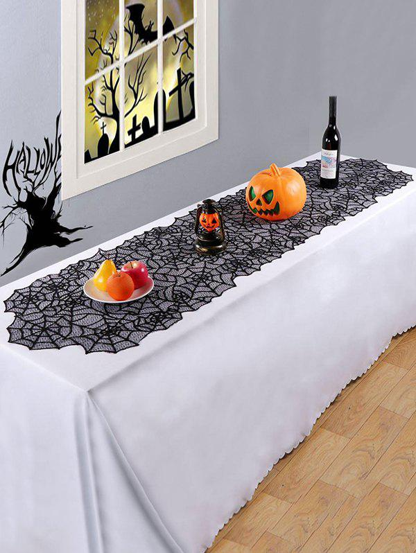 Hot Halloween Spider Web Multi-purpose Lace Table Runner