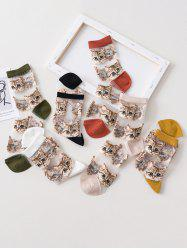 6Pairs Cat Pattern Transparent Mesh Socks Set -