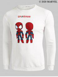 Marvel Spider-Man Pattern Crew Neck Sweatshirt -