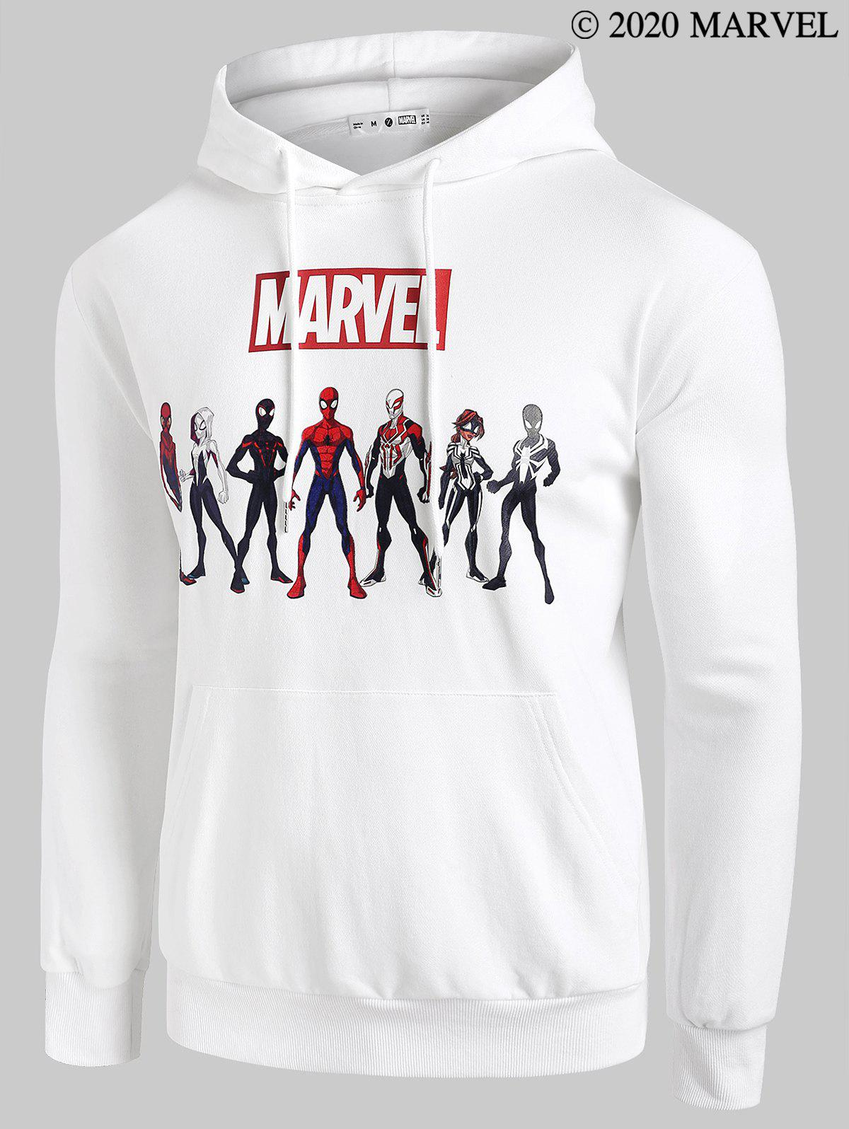 Cheap Marvel Spider-Man Spider-Girl Heroes Print Hoodie