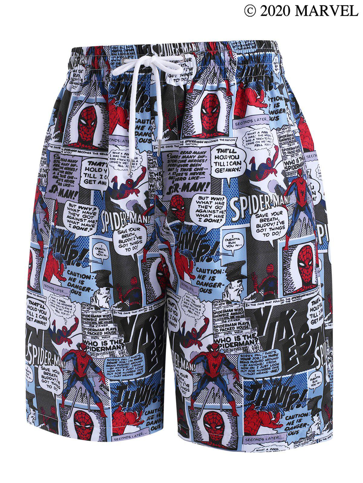 Outfit Marvel Spider-Man Comics Pattern Shorts