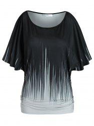 Plus Size Ruched Batwing Sleeve T Shirt -