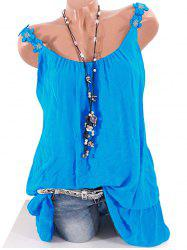 Plus Size Flower Strap Layered Tank Top -