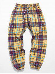Plaid Allover Print Casual Pants -