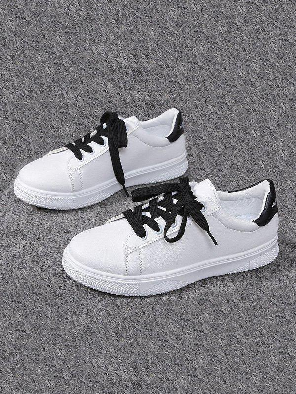 Shop Casual Lace-up Flat Sports Shoes
