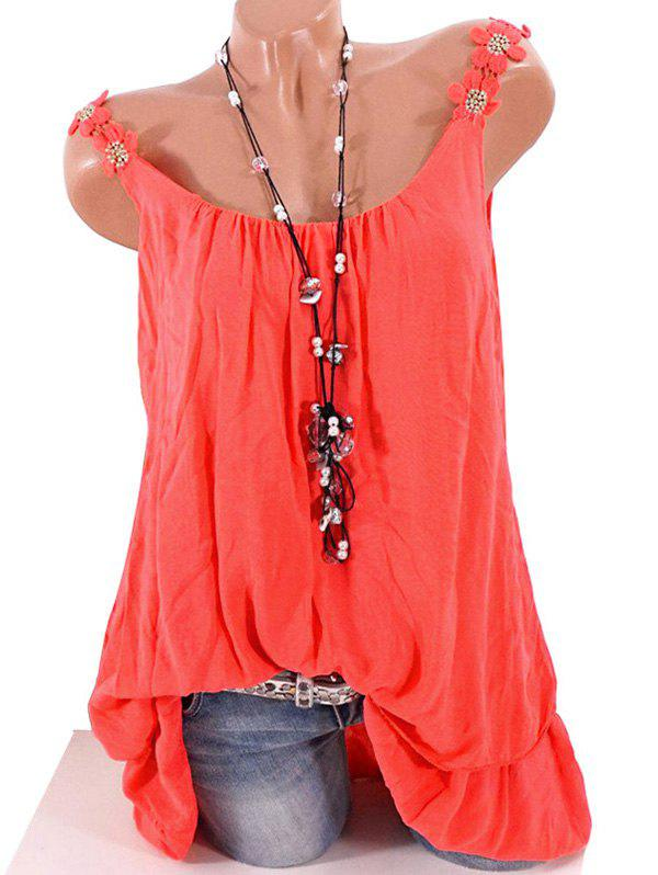 Outfits Plus Size Flower Strap Layered Tank Top