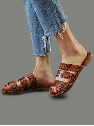 Snakeskin Pattern Beach Slides Sandals
