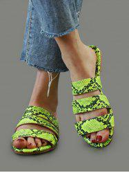 Snakeskin Pattern Beach Slides Sandals -