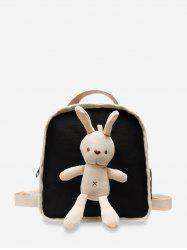 Cute Rabbit Canvas Small Backpack -
