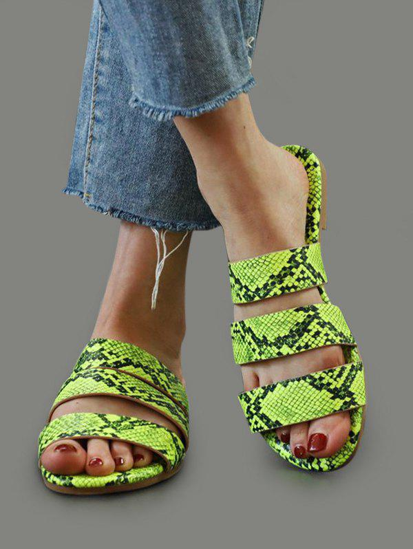 Shop Snakeskin Pattern Beach Slides Sandals