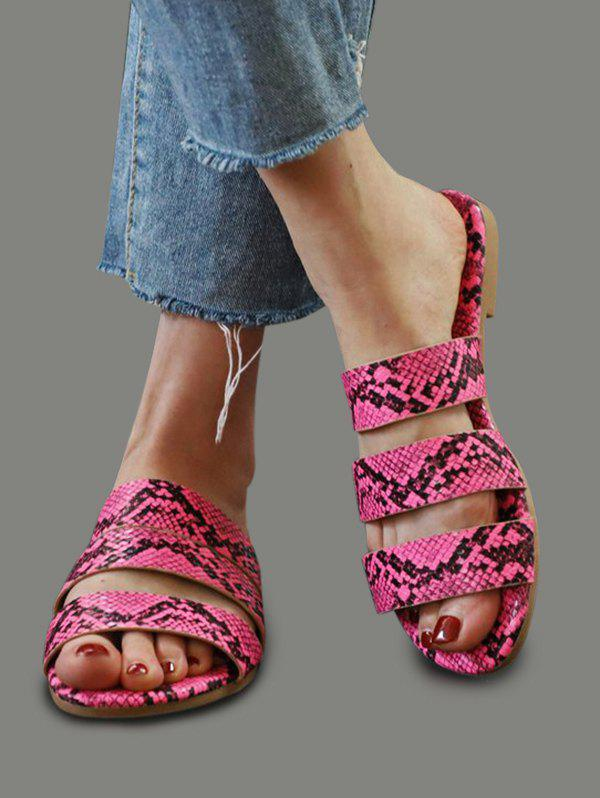 Latest Snakeskin Pattern Beach Slides Sandals