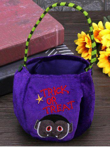 Halloween Pattern Velvet Gift Bags Candy Bag