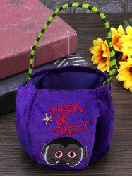 Halloween Pattern Velvet Gift Bags Candy Bag -
