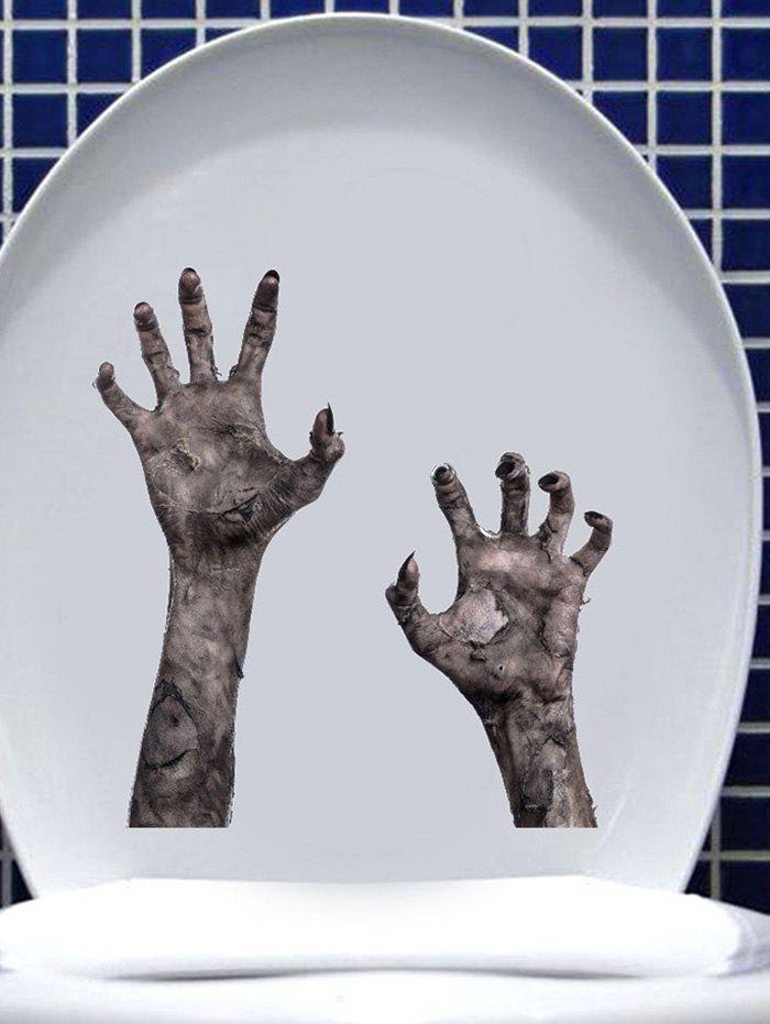 Trendy Halloween Zombie Hands Print Removable Wall Art Stickers