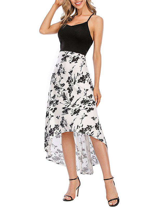 Best Floral Crisscross Maxi High Low Cami Dress