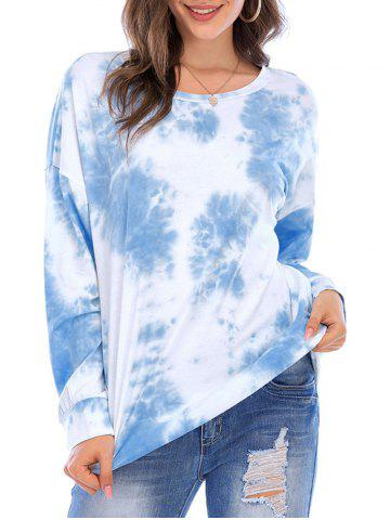 Random Tie Dye Drop Shoulder Sweatshirt