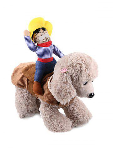 Halloween Pet Supplies Riding Man Embellished Funny Cat Clothes