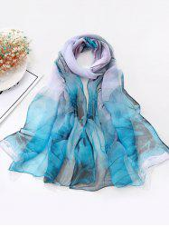 Flower Ink Painting Long Scarf -