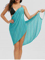 Zigzag Lace Cami Cover Up Wrap Dress -