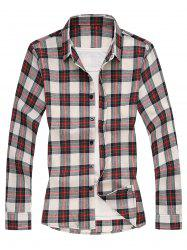 Long Sleeves Shirt with Plaid -