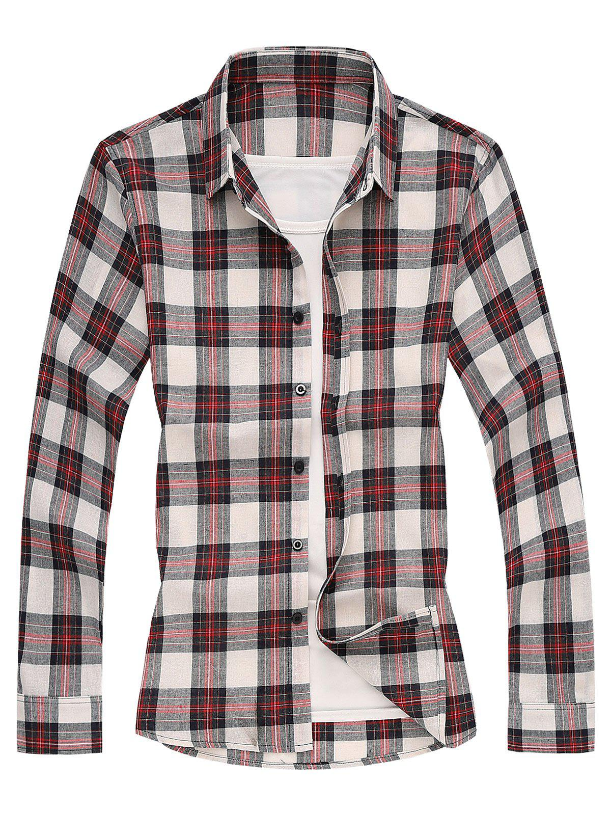 Shops Long Sleeves Shirt with Plaid