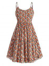 Plus Size Floral Ruffle Tiered Smock Sundress -