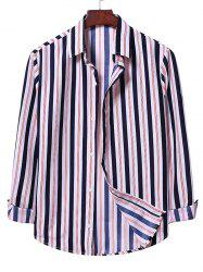 Striped Casual Long Sleeve Button Up Shirt -